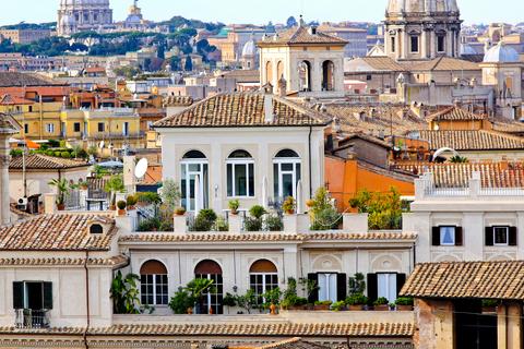 uitzicht op Rome vanaf dakterras